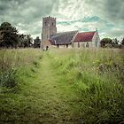 HDR Photograph of The Lonesome Church at Iken in Suffolk by Art Hakker Photography