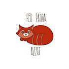 Red panda alert by Xinnie