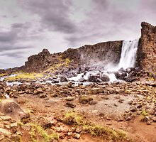 Oxarafoss waterfall, Thingvellir national park, Iceland by Stanciuc
