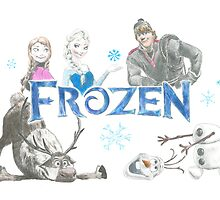 Frozen drawing by PurpleMoose
