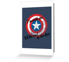 I'm With You Shield Greeting Card
