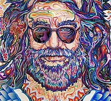 Jerry Garcia Portrait / Captain Trips by David Sanders