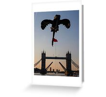 Toothless over Tower bridge  Greeting Card