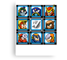 Megaman 2 Boss Select Canvas Print