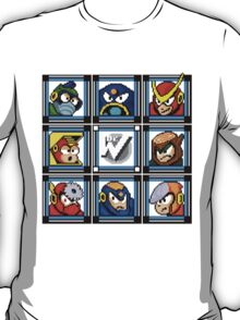 Megaman 2 Boss Select T-Shirt