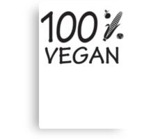 100 % vegan Canvas Print