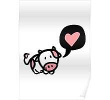 Cow in love Poster
