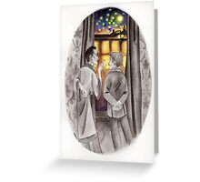"""Life is Infinitely Stranger"""" - Holmes and Watson - 221B Greeting Card"""
