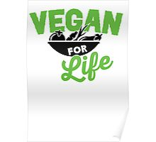 Vegan for life Poster