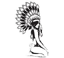Cheif Native Hottie Photographic Print