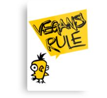 Vegans rule Metal Print