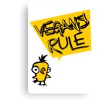 Vegans rule Canvas Print