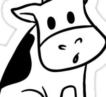 Save a cow, eat a vegetarian Sticker