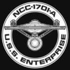 USS Enterprise Logo - Star Trek - NCC-1701-A (movie) by James Ferguson - Darkinc1