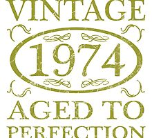 Vintage 1974 Birth Year by thepixelgarden
