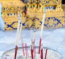 Bowl with joss sticks by Stanciuc