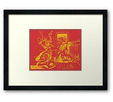 Satan Loses A Badman - Gold Framed Print
