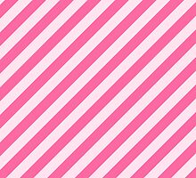 Stripes (Parallel Lines, Striped Pattern) - Pink by sitnica