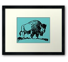 Buffalo - Black Framed Print