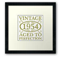 Vintage 1954 Birth Year Framed Print