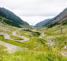 View of famous Transfagarasan Highway in Romania by Stanciuc