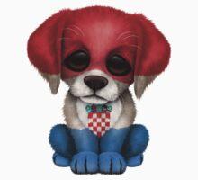 Cute Patriotic Croatian Flag Puppy Dog Kids Clothes
