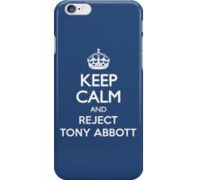 KEEP CALM REJECT ABBOTT iPhone Case/Skin