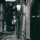 Prague evening empty street by BronwynBell