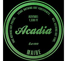 Acadia, Maine National Park Photographic Print