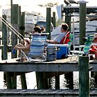 Fishing on the dock at the bay by KSKphotography