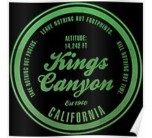 Kings Canyon National Park, California Poster