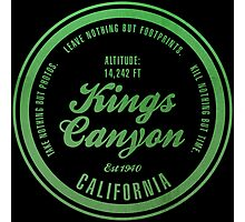 Kings Canyon National Park, California Photographic Print