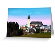 Village skyline with vivid sky | landscape photography Greeting Card