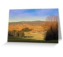 Peaceful panorama with warm colors | landscape photography Greeting Card
