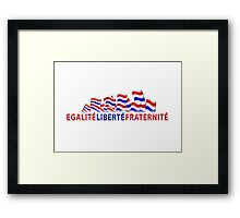 Bastille day design illustration  Framed Print