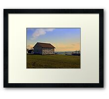 Traditional storage in autumn scenery | architectural photography Framed Print