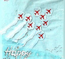 Red Arrows themed Birthday Card - brother by Blackbird76