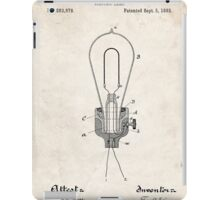 Edison Light Bulb Invention US Patent Art iPad Case/Skin