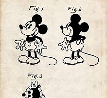 Mickey Mouse US Patent Art Walt Disney Cartoon 1930 by geekuniverse