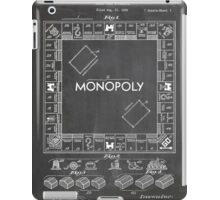 Monopoly Board Game US Patent Art 1935 Blackboard iPad Case/Skin