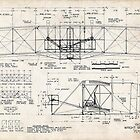 Wright Flyer Plans Art Wright Brothers Kitty Hawk First Airplane by geekuniverse