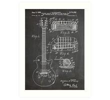 Gibson Les Paul  guitar us patent art 1955 blackboard Art Print