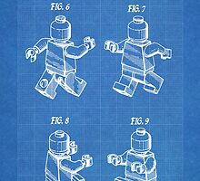 LEGO Minifigure US Patent Art Mini Figure blueprint by geekuniverse