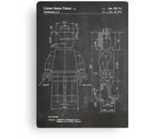 LEGO Minifigure US Patent Art Mini Figure blackboard Canvas Print