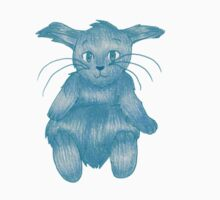 Blue Rabbit on his Back Kids Clothes