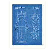 LEGO Minifigure US Patent Art Mini Figure blueprint Art Print