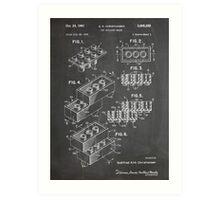 LEGO Construction Toy Blocks US Patent Art blackboard Art Print