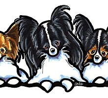 Papillon Party of Three by offleashart