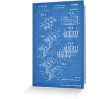 LEGO Construction Toy Blocks US Patent Art blueprint Greeting Card