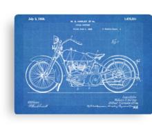 Harley-Davidson Motorcycle US Patent Art 1928 blueprint Canvas Print